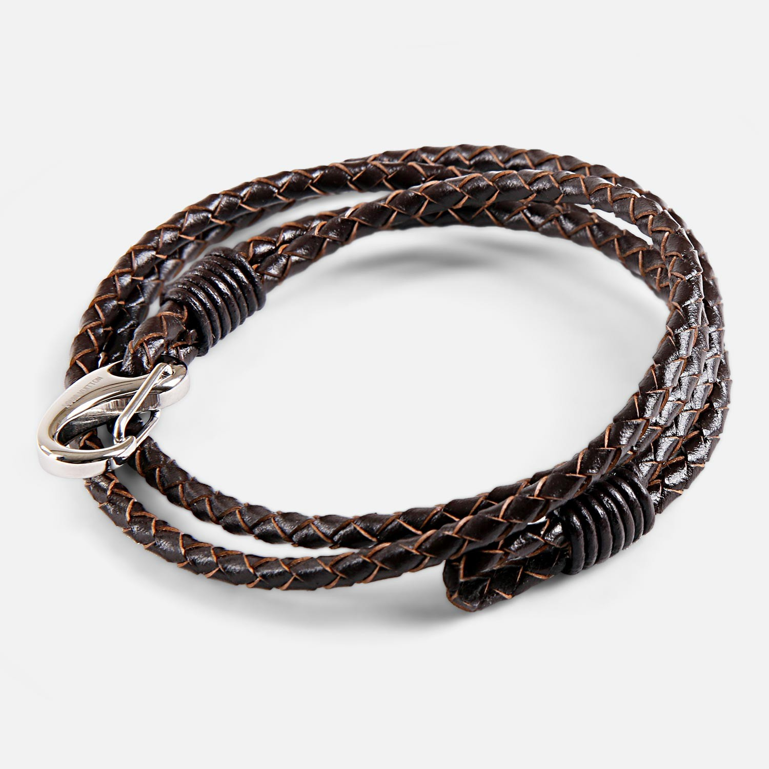 Mens Leather Double Wrap Wrist Band By Louis Vuitton 03